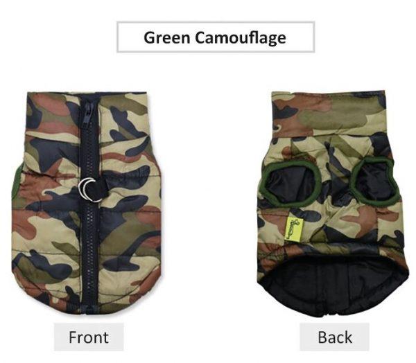 Camouflage Dog Winter Harness Vest
