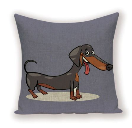 Dachshund Cushion Cover Pillowcase