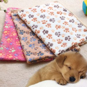 Soft Paw Print Dog Blanket