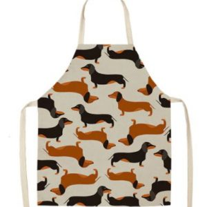 Dachshund Printed Kitchen Apron