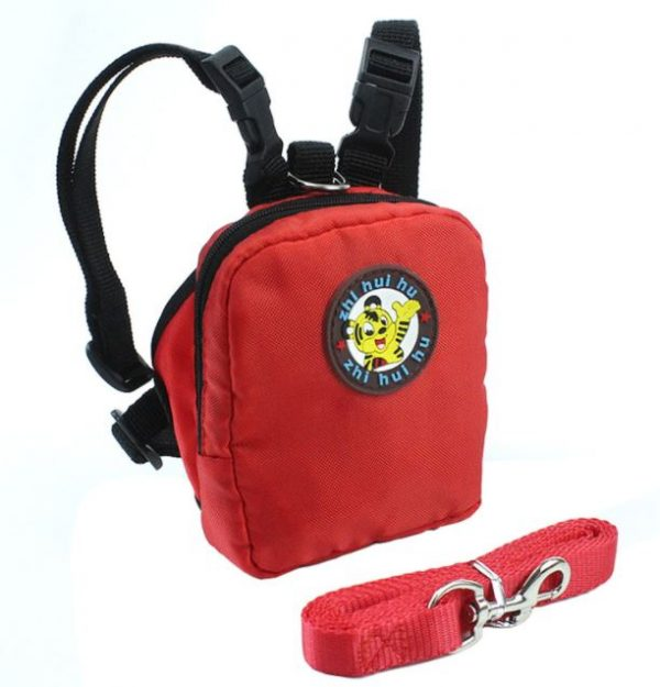 Colorful Pet Leash Backpack
