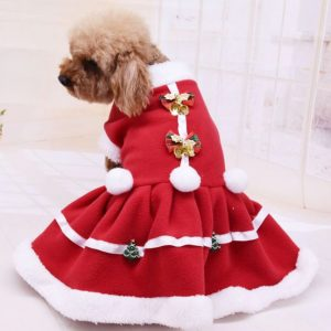 Christmas Pet Soft Princess Dress