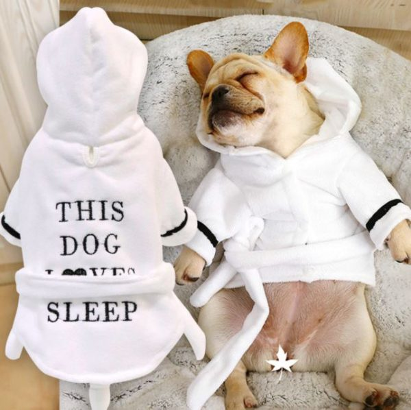 Cute And Soft Dog Pajamas Robe