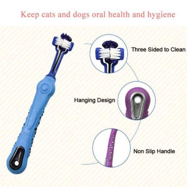 Three Sided Pet Soft Toothbrush