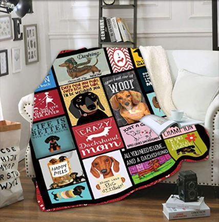 Dachshund Dog 3D Printed Blanket