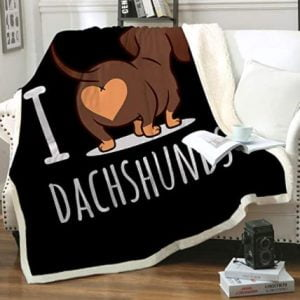 Dachshund Throw Soft Flannel Blankets
