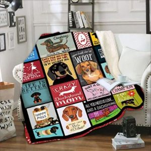 Dachshund Dog 3D Printed Blanket