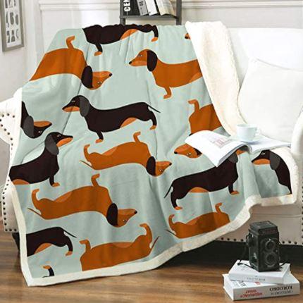 Dachshund Throw Soft Flannel Blankets